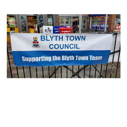 Blyth Town Council banner