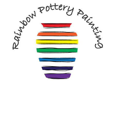 Rainbow Pottery Painting logo