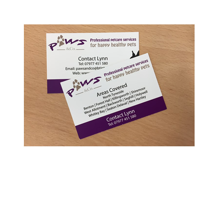 Paws Co Business Cards