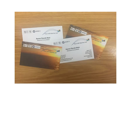 Port Hill Marine leaflets and business cards