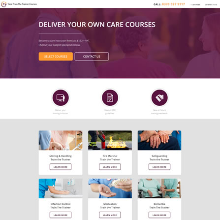 Care Train The Trainer Courses Website