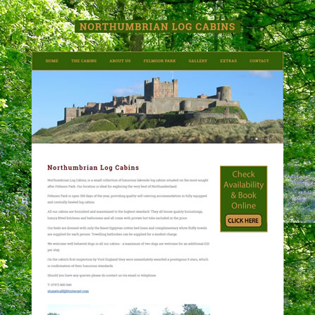 Northumbrian Log Cabins Website